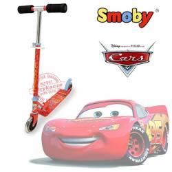 SMOBY Duża, dwukołowa i składana Hulajnoga CARS, ciche koła
