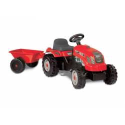 Smoby Traktor na pedały GM Bull czerwony + przyczepa