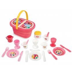Smoby Koszyk Piknikowy Disney Princess z akcesoriami Mała Księżniczka