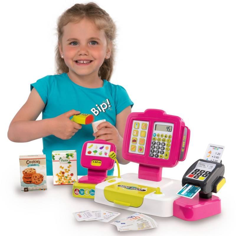 Elektroniczna kasa fiskalna dla dzieci smoby różowa z