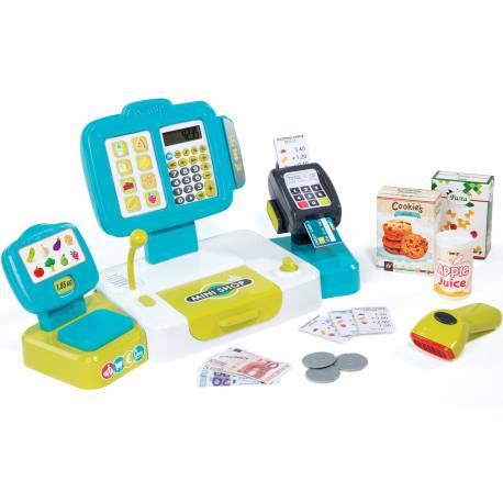Smoby Elektroniczna Kasa Sklepowa Dla Dzieci z Kalkulatorem 27 Akc.
