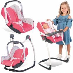 Zestaw Maxi Cosi 3w1 krzesełko huśtawka nosidełko Smoby