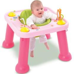 Smoby - Cotoons Edukacyjny Stół - Stolik Obrotowy Różowy 2w1