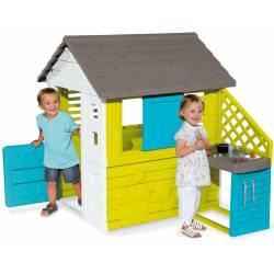 Smoby Pretty Domek Ogrodowy Dla Dzieci z Kuchnią
