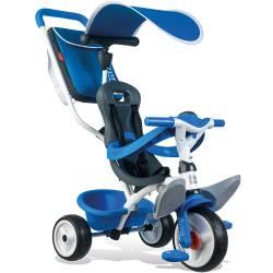 Smoby Rowerek Trójkołowy Ciche Koła Baby balade 3 w 1 niebieski