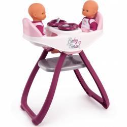 Smoby Krzesełko Do Karmienia Dla Lalek Baby Nurse Dla Bliźniąt