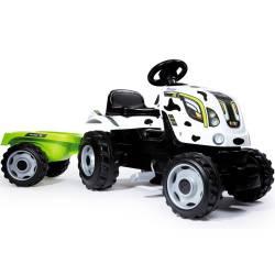 Traktor Na Pedały Farmer XL Krówka z Przyczepką Smoby