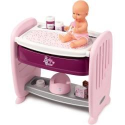 Smoby Łóżeczko 2w1 Dla Lalki Baby Nurse Przewijak + Lalka Funkcyjna